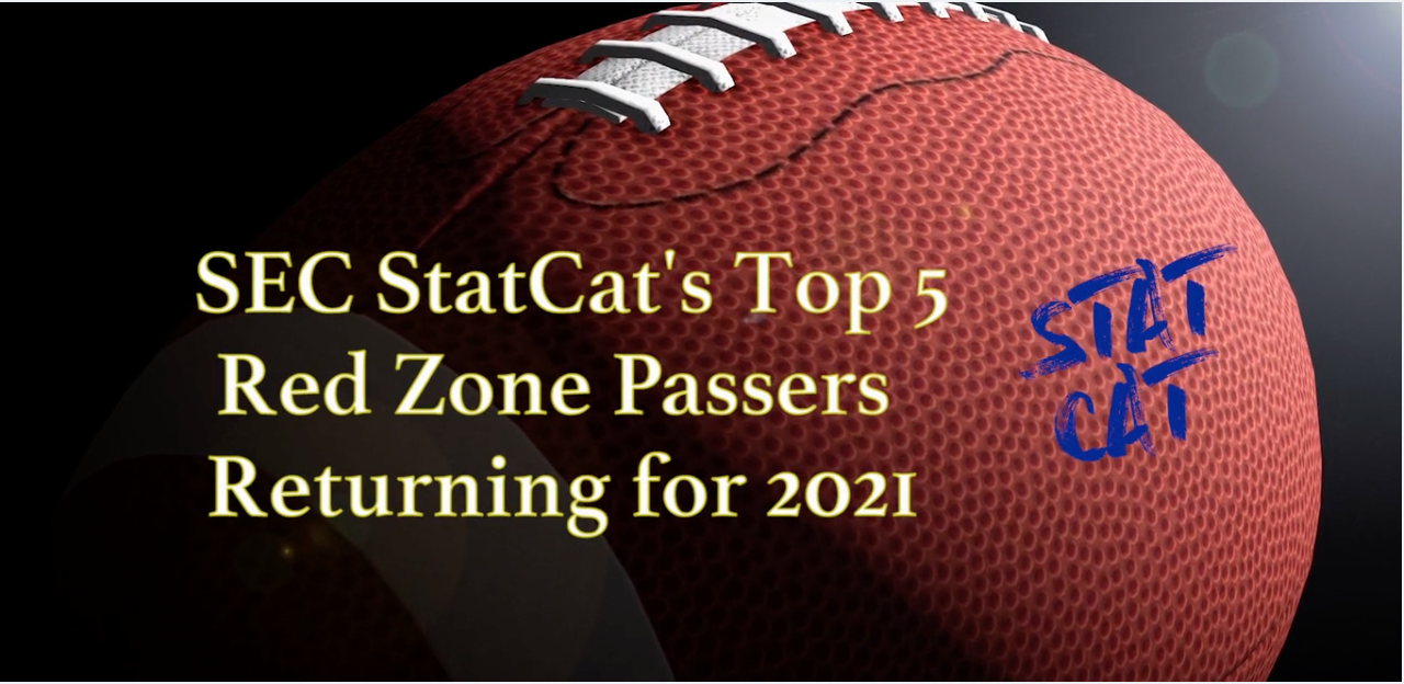 SEC StatCat's Top5 Red Zone Passers for 2021