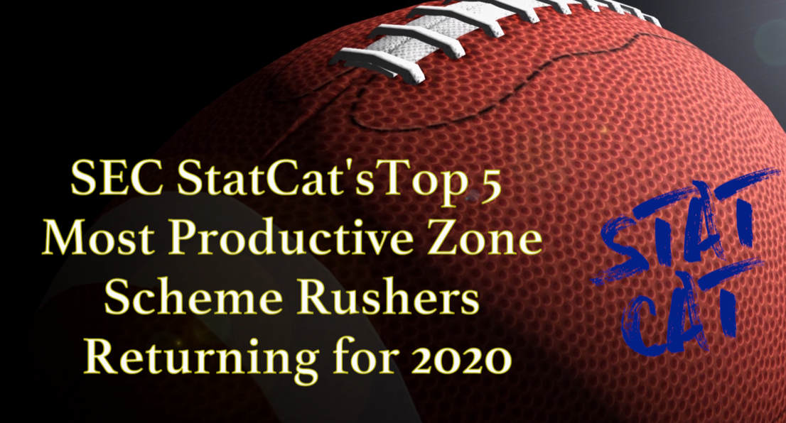 2020 Vision: SEC StatCat's Top5 Most Productive Zone Rushers