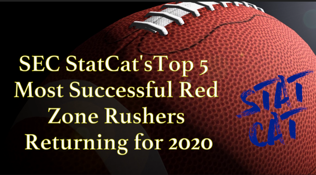 2020 Vision: SEC StatCat's Top5 Most Successful Red Zone Running Backs