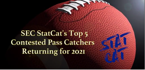 SEC StatCat's Top5 Pass Catchers on Contested Targets for 2021