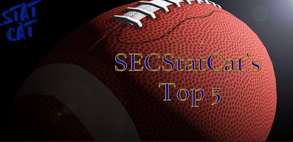 2018 SECStatCat's Top 5 Rushers Who Ran with the Least Amount of Cushion