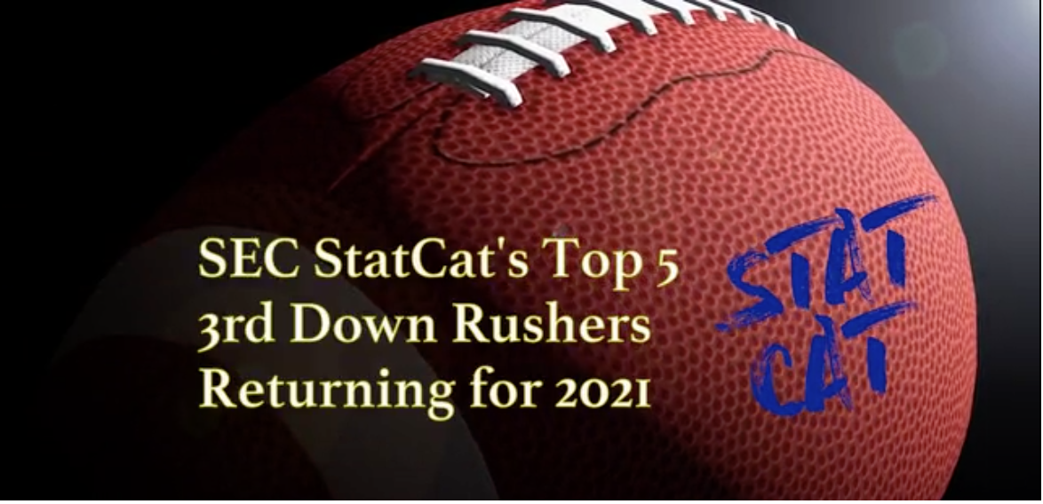 SEC StatCat's Top5 3rd Down Rushers for 2021