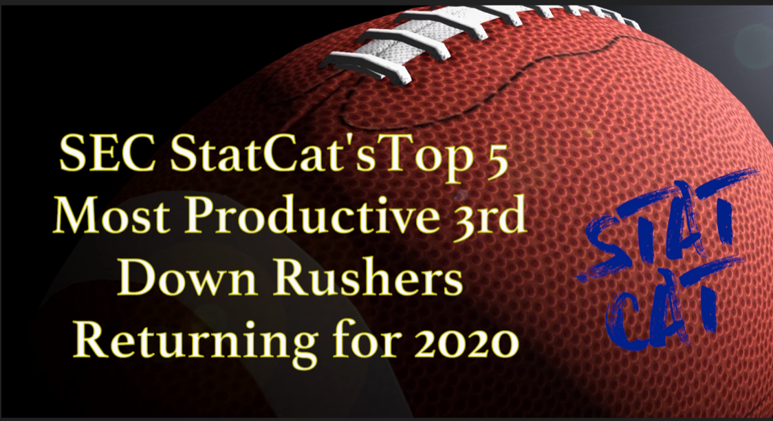 2020 Vision: SEC StatCat's Top5 Most Productive 3rd Down Rushers