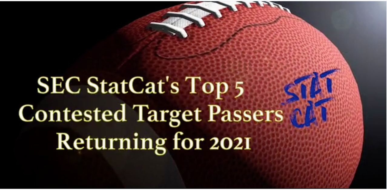 SEC StatCat's Top5 Contested Target Passers for 2021