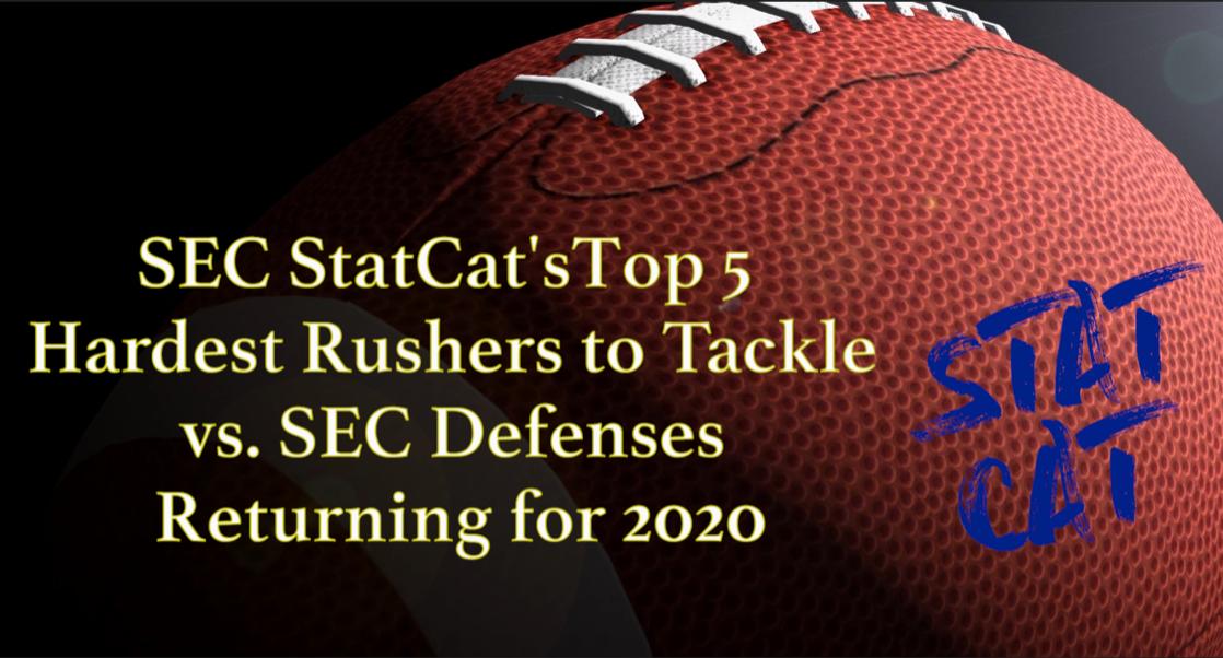2020 Vision: SEC StatCat's Top5 Hardest Rushers to Tackle vs. SEC Defenses