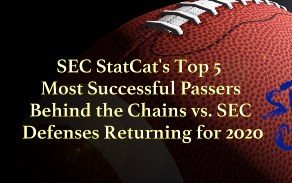 2020 Vision: SEC StatCat's Top5 Most Successful Passers Behind the Chains vs. SEC Defenses
