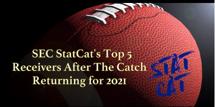 SEC StatCat's Top5 Receivers After the Catch for 2021