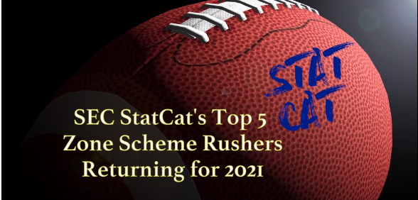 SEC StatCat's Top5 Zone Scheme Rushers for 2021
