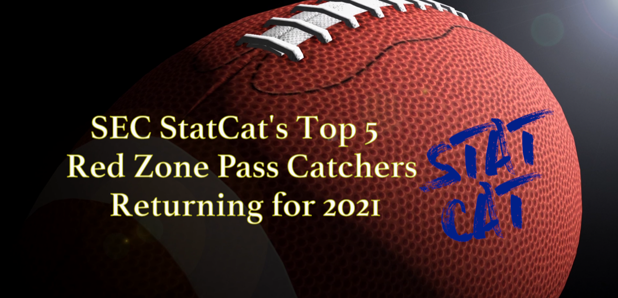 SEC StatCat's Top5 Red Zone Pass Catchers for 2021