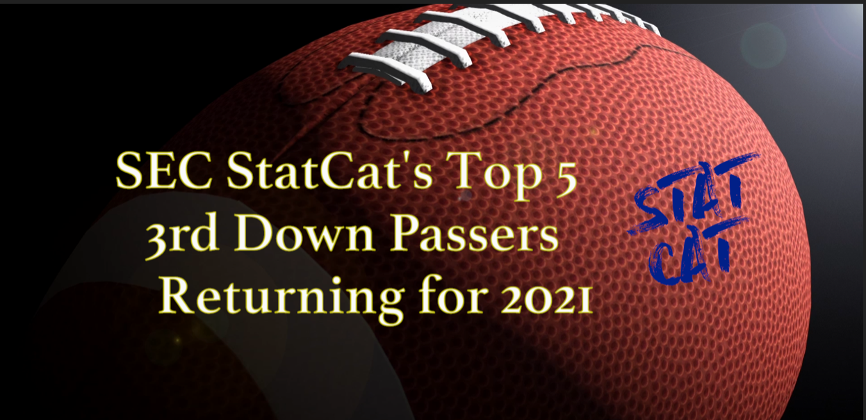 SEC StatCat's Top4 3rd Down Passers for 2021